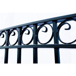 Paris Style Dual Swing Steel Driveway Gate Image 4