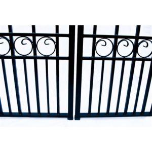 Paris Style Dual Swing Steel Driveway Gate Image 6