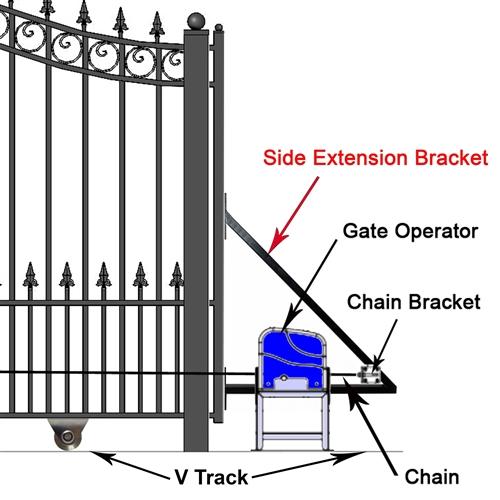 Prague Style Sliding Steel Driveway Gate 12 18