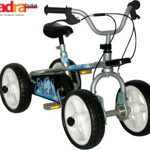 Quadra Pedal Byke - Silver