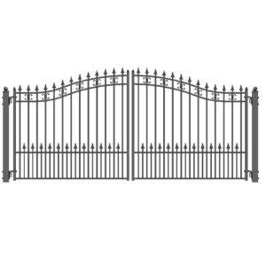 St Petersberg Style Dual Swing Steel Driveway Gate Image 1528x1528