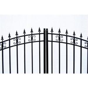 St Petersberg Style Dual Swing Steel Driveway Gate Image 2
