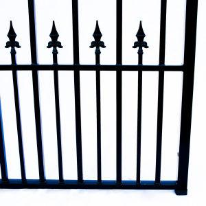 St Petersberg Style Dual Swing Steel Driveway Gate Image 3