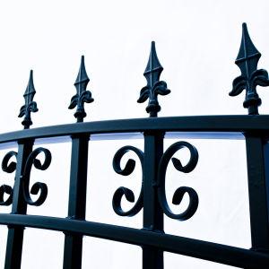 St Petersberg Style Dual Swing Steel Driveway Gate Image 4