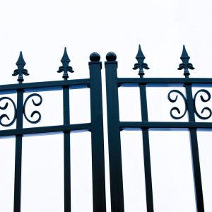 St Petersberg Style Dual Swing Steel Driveway Gate Image 5
