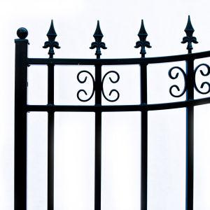 St Petersberg Style Dual Swing Steel Driveway Gate Image 7