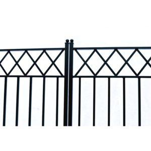 Stockholm Style Dual Swing Steel Driveway Gate Image 2