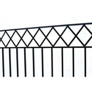 Stockholm Style Dual Swing Steel Driveway Gate Image 3