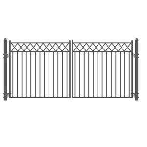 Stockholm Style Dual Swing Steel Driveway Gate Image