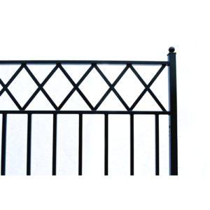 Stockholm Style Dual Swing Steel Driveway Gate Image 4
