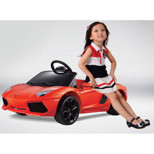 Kids Lamborghini Power Wheel Orange 6