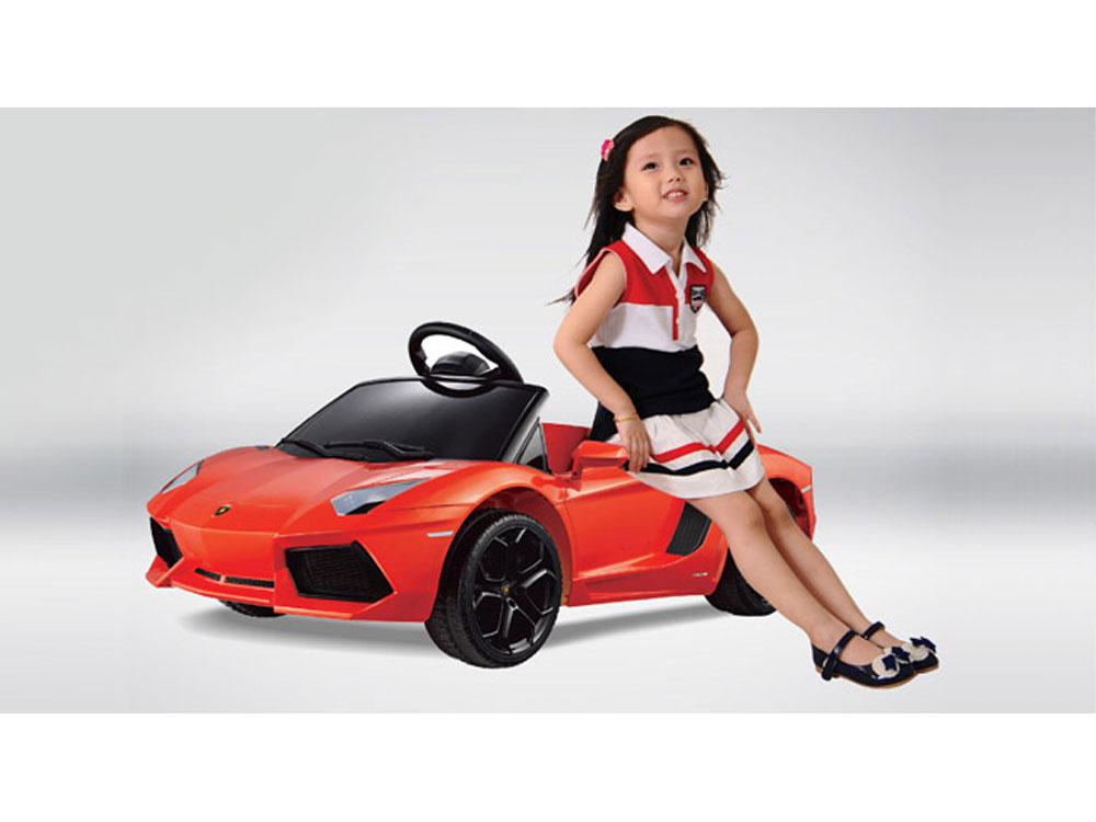 Inflatable furniture for kids - Kids Lamborghini Power Wheel