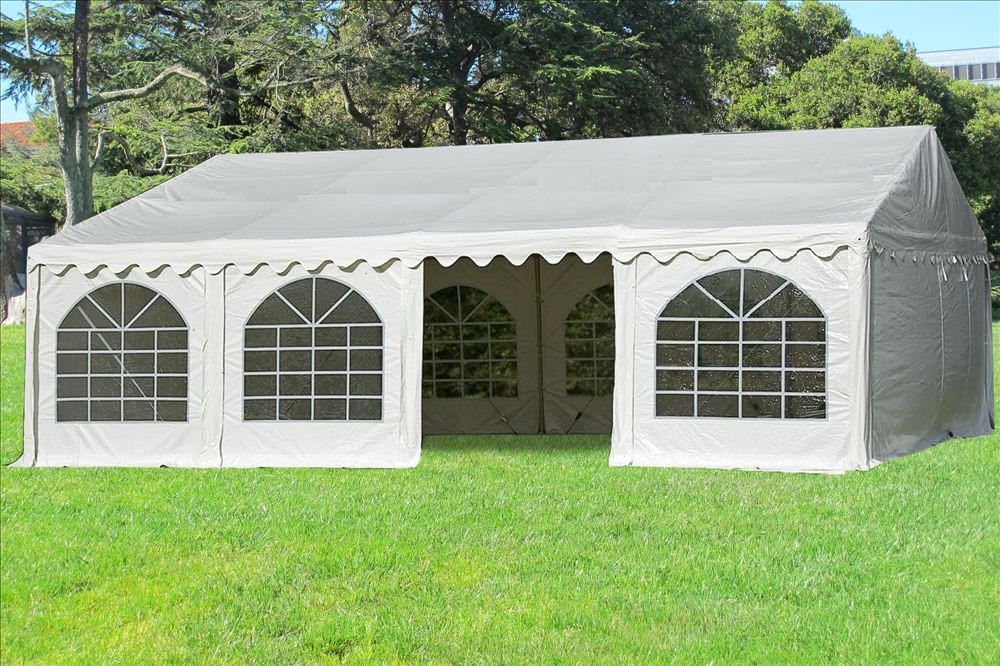 26 x 16 White PVC Party Tent Canopy -