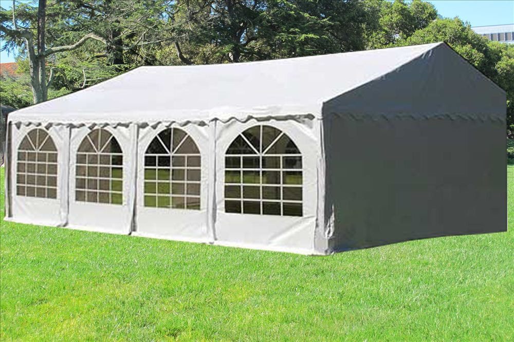 26 x 16 white pvc party tent canopy. Black Bedroom Furniture Sets. Home Design Ideas