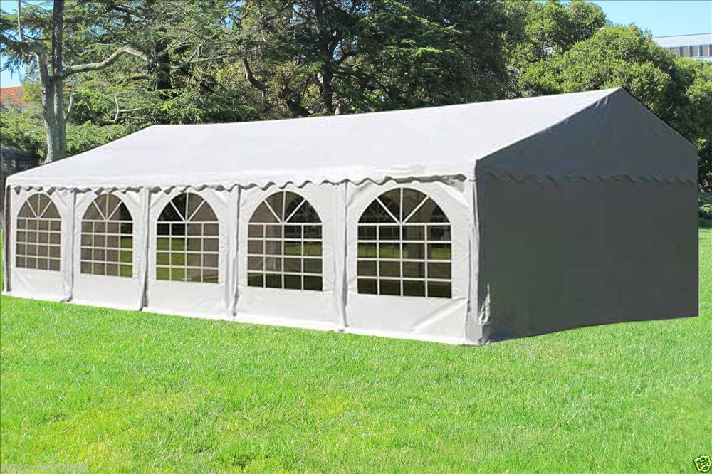32 x 16 White PVC Party Tent Canopy -