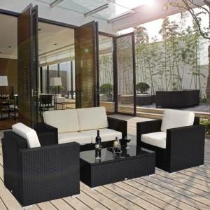 4 Piece Outdoor Wicker Sofa Patio Set 2