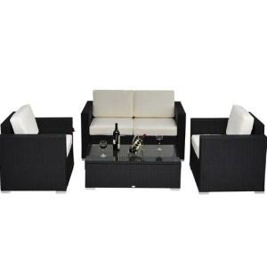 4 Piece Outdoor Wicker Sofa Patio Set 4