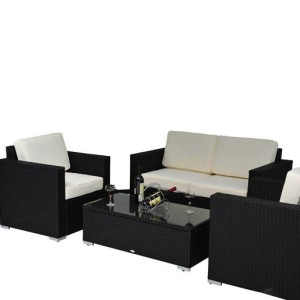 4 Piece Outdoor Wicker Sofa Patio Set 5