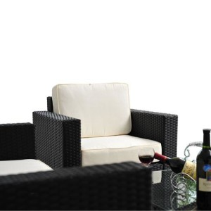 4 Piece Outdoor Wicker Sofa Patio Set 7