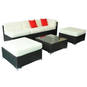 6 Piece Outdoor Wicker Furniture Set 2 - 01-0320