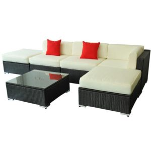 6 Piece Outdoor Wicker Furniture Set 4 - 01-0320