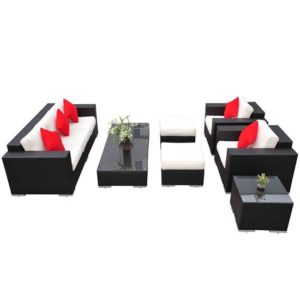 7 Piece Outdoor Wicker Furniture Set 2