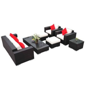 7 Piece Outdoor Wicker Furniture Set