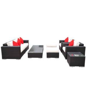 7 Piece Outdoor Wicker Furniture Set 4