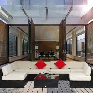 9 Piece Outdoor Wicker Sectional Sofa Set 2
