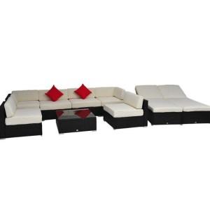 9 Piece Outdoor Wicker Sectional Sofa Set 4