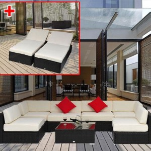 9 Piece Outdoor Wicker Sectional Sofa Set 5
