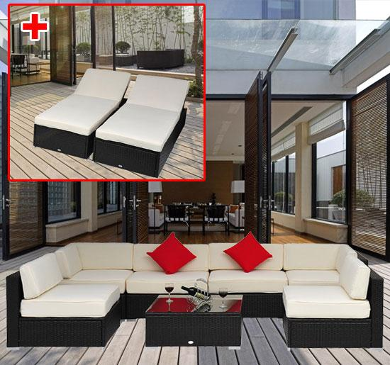 9 Piece Outdoor Wicker Sectional Sofa Set 5 - 9 Piece Outdoor Wicker Sectional Sofa Set -