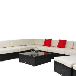 9 Piece Outdoor Wicker Sectional Sofa Set 6