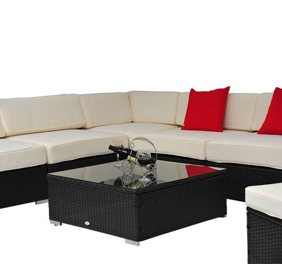 9 Piece Outdoor Wicker Sectional Sofa Set 7
