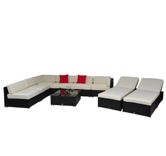 9 Piece Outdoor Wicker Sectional Sofa Set