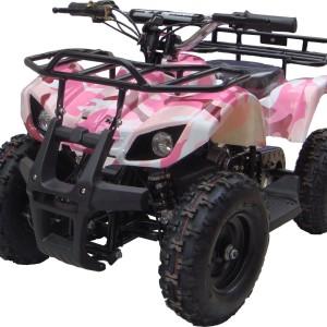 Kids Sonora Electric ATV Mini Quad Pink Camo