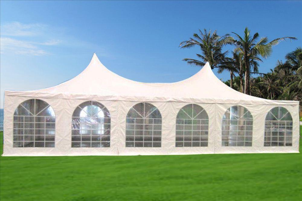 & 20 x 40 Pagoda PVC Tent Gazebo - White -