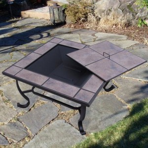 32 Inch Square Outdoor Metal Fire Heat Pit 3 - 5972-2121