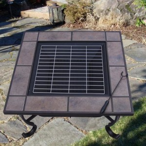 32 Inch Square Outdoor Metal Fire Heat Pit 4 - 5972-2121