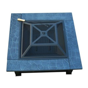 32 Inch Square Outdoor Metal Fire Pit Table 5 - 5972-2113