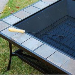 36 Inch Square Outdoor Metal Fire Pit Stove Table 5 - 5972-2114