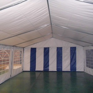 15 x 30 Heavy Duty White and Blue Party Tent Canopy 2