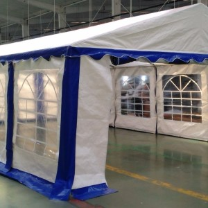 15 x 30 Heavy Duty White and Blue Party Tent Canopy 3