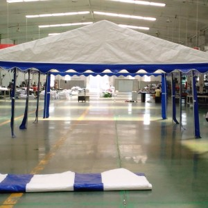 15 x 30 Heavy Duty White and Blue Party Tent Canopy 4