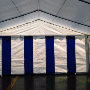 15 x 30 Heavy Duty White and Blue Party Tent Canopy 5