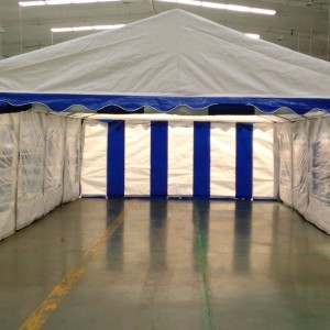 15 x 30 Heavy Duty White and Blue Party Tent Canopy 6