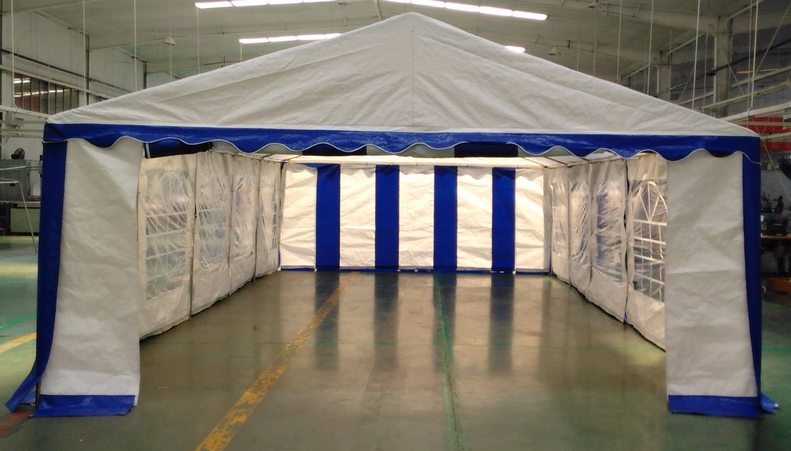 15 x 30 heavy duty white and blue party tent canopy. Black Bedroom Furniture Sets. Home Design Ideas