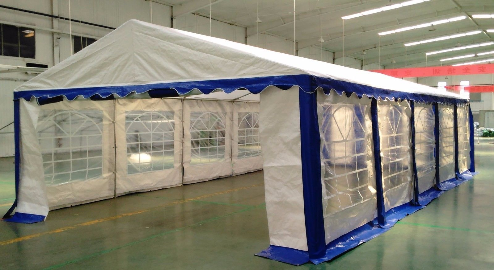 15 x 30 Heavy Duty White and Blue Party Tent Canopy : tent heavy duty - memphite.com