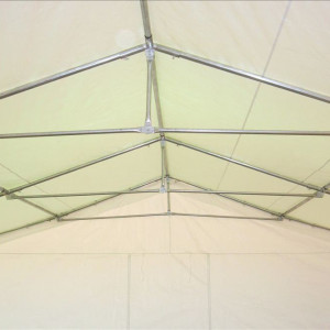 26 x 16 Heavy Duty White and Blue Party Tent - FRAME