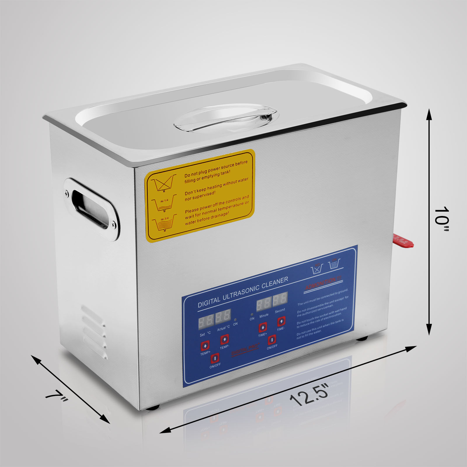 6 Liter Stainless Steel Digital Ultrasonic Cleaner